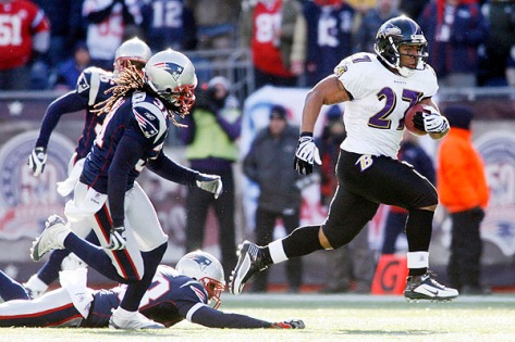 NFL: AFC Wild Card-Baltimore Ravens at New England Patriots